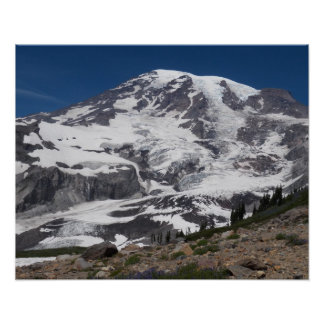 Der Mount- Rainiergletscher Vista Poster