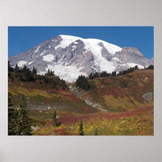 Der Mount- Rainierherbst-Farben Poster
