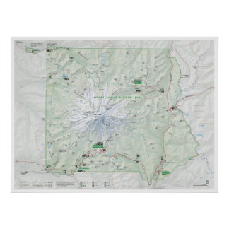 Der Mount- Rainierkartenplakat Poster