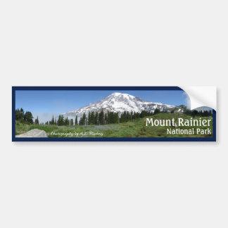 Der Mount- Rainierpanorama mit Text Autoaufkleber