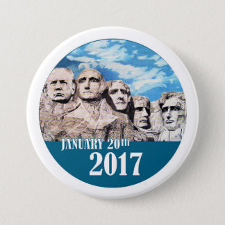 Der Mount Rushmore, am 20. Januar 2017 Runder Button 7,6 Cm