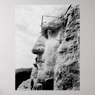 Der Mount Rushmore Bau-Foto Poster