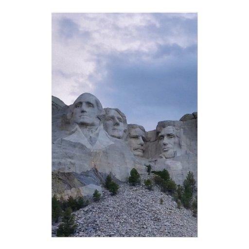 Der Mount Rushmore Personalisiertes Druckpapier