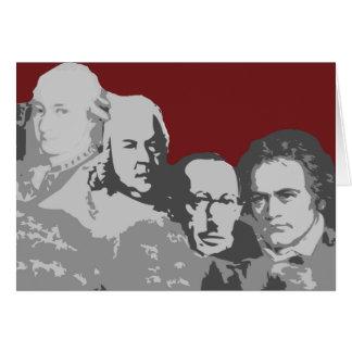 Der Mount Rushmore der Komponist-Gruß-Karte Karte