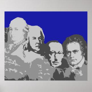 Der Mount Rushmore des Komponist-Plakats Poster