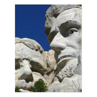 Der Mount Rushmore Detail Postkarte