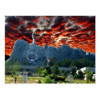 Der Mount Rushmore erhält eine Umarbeitung Postkarte