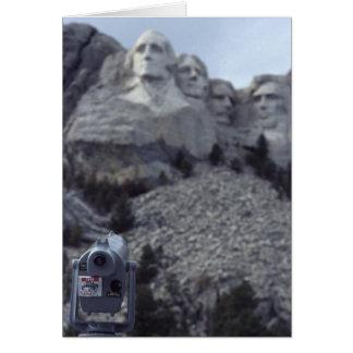 Der Mount Rushmore Karte