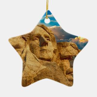 Der Mount Rushmore Keramik Stern-Ornament