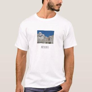 Der Mount Rushmore mit Koordinaten T-Shirt
