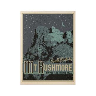 Der Mount Rushmore nationales hölzernes Holzposter