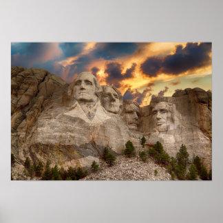 Der Mount Rushmore Plakat