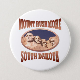 Der Mount Rushmore Runder Button 7,6 Cm