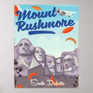 Der Mount Rushmore Vintages Art-Reiseplakat Poster