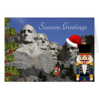 Der Mount Rushmore Weihnachtskarte Karte