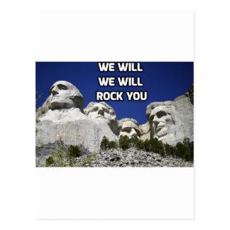 Der Mount Rushmore - wir schaukeln Sie Postkarte