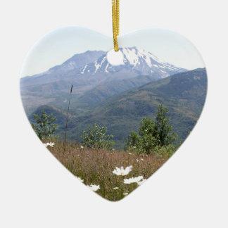 Der Mount Saint Helens Keramik Herz-Ornament