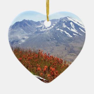 Der Mount- Saint HelensWildblumen Keramik Ornament