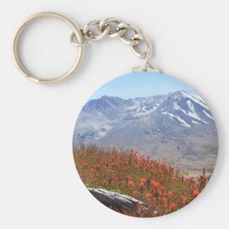 Der Mount- Saint HelensWildblumen Schlüsselanhänger