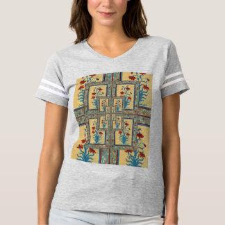 Der Mughal der Frauen Blumen-Fresko-T-Stück T-shirt