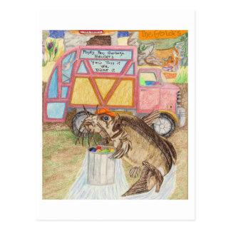 Der Müllmann Postkarte