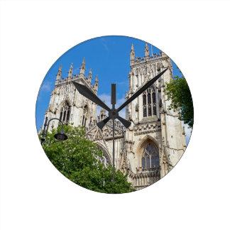 Der Münster in York Runde Wanduhr