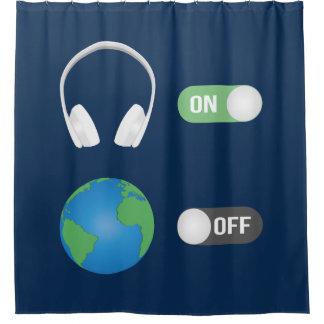 Der Musik-Schalter Duschvorhang