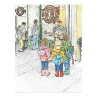 Der Musiker an Pikes Markt Postkarten
