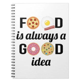 Der Nahrungsmittelliebhaber Spiral Notizblock