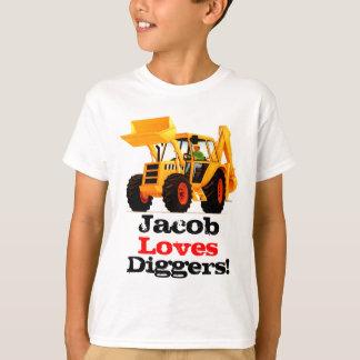 Der Name-Gelb-Gräber des Kindes T-Shirt