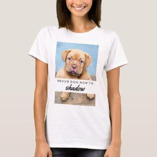 Der Name Ihr Hundes und stolze Hundemamma des T-Shirt