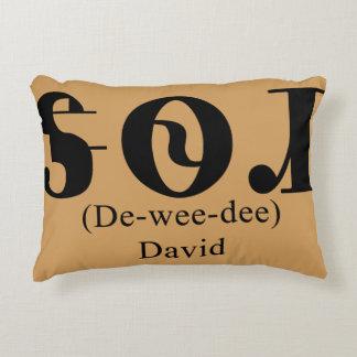 """Der Namens""""David"""" in Cherokee auf einem Dekokissen"""