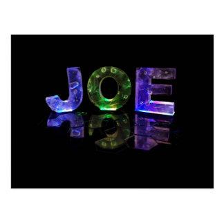 Der Namensjoe in 3D beleuchtet (Fotografie) Postkarte