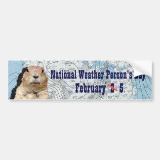Der nationale Tag der Wetter-Person am 5. Februar Autoaufkleber
