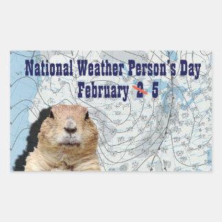 Der nationale Tag der Wetter-Person am 5. Februar Rechteckiger Aufkleber