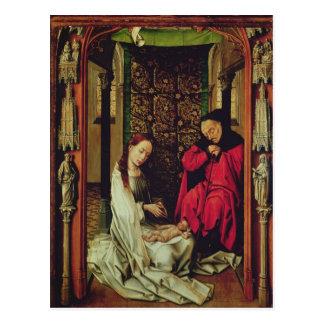 Der Nativity, links Flügel eines Triptychons, Postkarte