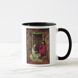 Der Nativity, links Flügel eines Triptychons, Tasse