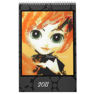 Der Neko Mädchen-, bunter u. Spaß-Kinder Kalender