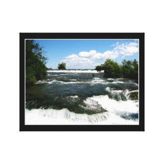 Der Niagara Fluss Rapids #1 wickelten Leinwand-Dru Leinwanddruck