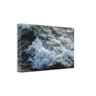Der Niagara Fluss Rapids #2 wickelten Leinwand-Dru Leinwanddruck
