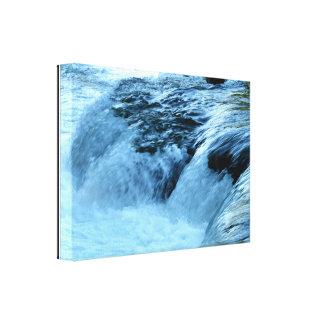 Der Niagara Fluss Rapids #3 wickelten Leinwand-Dru Leinwanddruck