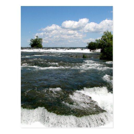 Der Niagara Fluss Rapids Niagara Falls New York
