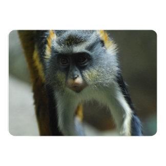 Der niedliche Affe des Wolfs Personalisierte Ankündigungskarte