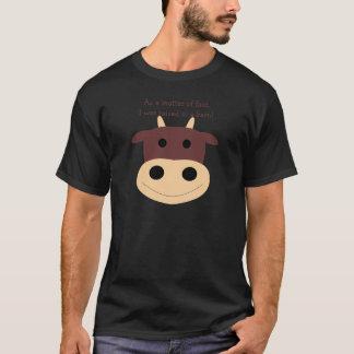 Der niedliche braune T - Shirt der Kuhmänner