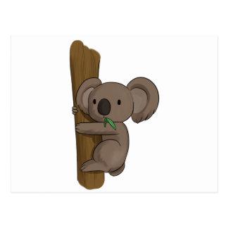 Der niedliche Cartoon-Koala betreffen Baum Postkarte