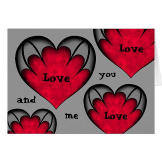 Der niedliche gotische Tag des Valentines mit Karte