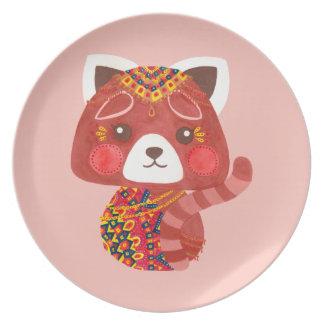 Der niedliche rote Panda Melaminteller