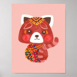 Der niedliche rote Panda Poster