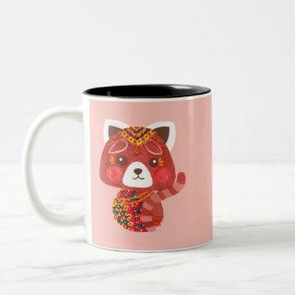 Der niedliche rote Panda Zweifarbige Tasse