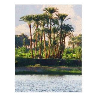 Der Nil in Ägypten, Luxor Postkarte